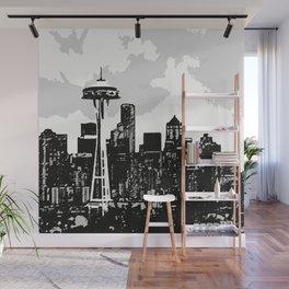Seattle Sketch Wall Mural