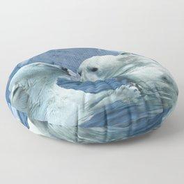 Polar Bears and Sea Floor Pillow