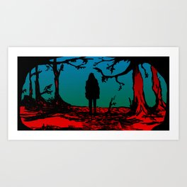 Black Riding Hood Art Print