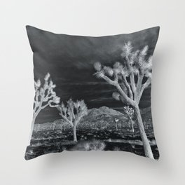 Joshua Tree InfraRed by CREYES Throw Pillow