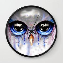 Owl Eye Art Wall Clock