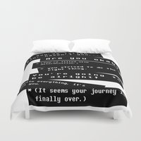 journey Duvet Covers featuring Journey by writingoverashes