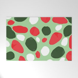 red green white pattern Welcome Mat