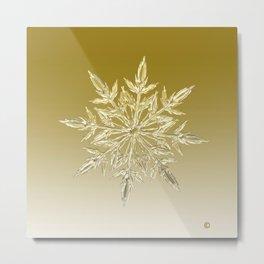 Crystal Snowflake Metal Print