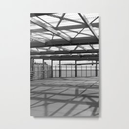 Metal constructions barriers with protective cells Metal Print