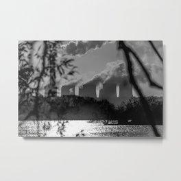 Power plants over a lake Metal Print