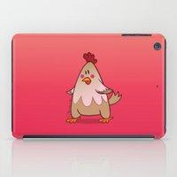 chicken iPad Cases featuring Chicken by jebirvoki