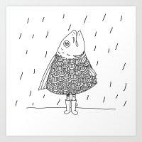 raincoat Art Print