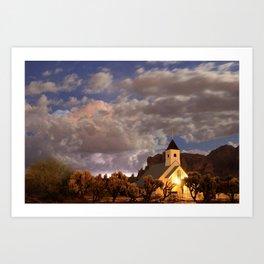 Chapel Among the Clouds Art Print