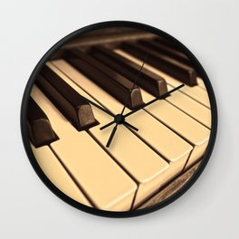 Old Wooden Piano Wall Clock