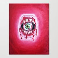 mouth Canvas Prints featuring Mouth by Tufty Cookie