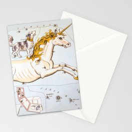 Antique Constellation Map of Monoceros (unicorn), Canis Minor (little dog) Stationery Cards