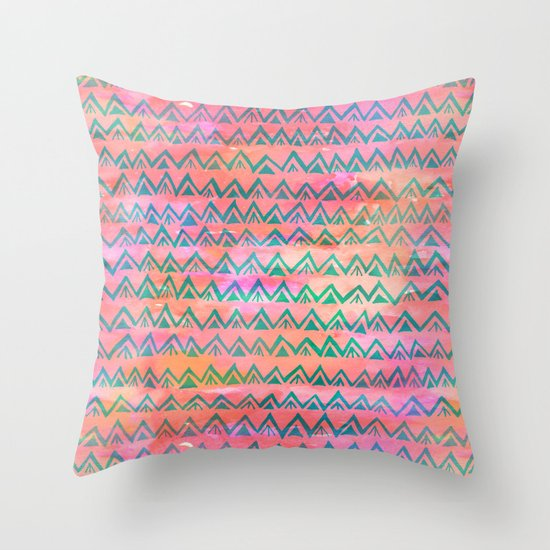 RHYTHM - CORAL Throw Pillow