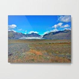 Svínafellsjökull Glacier Outlet in Southern Iceland (2) Metal Print