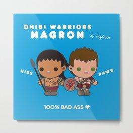 Chibi Warriors Nagron (Spartacus) Metal Print