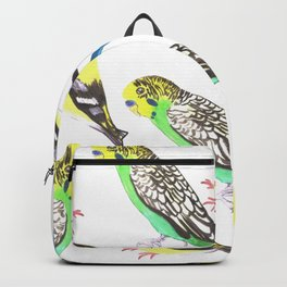 Budgies and american goldfinches Backpack