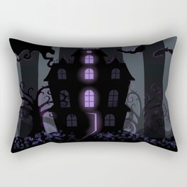 Be it ever so Haunted, there's no place like Home - Dark Gray Rectangular Pillow