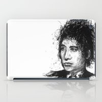 bob dylan iPad Cases featuring Bob Dylan by Nour Shalabi