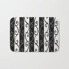 Burtonesque Stripes and Swirls.. Bath Mat