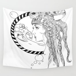Octopus Woman Wall Tapestry