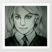 luna lovegood Art Prints featuring Luna Lovegood by Rosie Smith