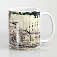 bike Mugs featuring bike  by Beverly LeFevre