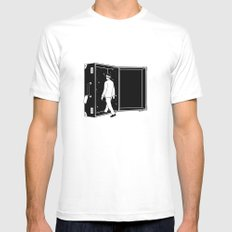Space Traveler White X-LARGE Mens Fitted Tee