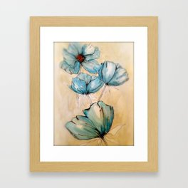 Vintage Blue Framed Art Print