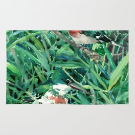 Green Kingfishers and Green Grass Rug