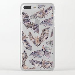 Bat Collection Clear iPhone Case