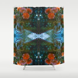 Dahlias Photographic Pattern #1 Shower Curtain
