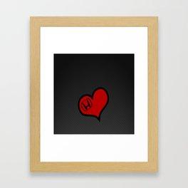 Honda Love Carbon Framed Art Print