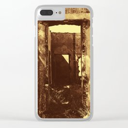 Ruined House Photography Clear iPhone Case