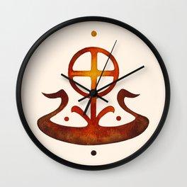 Summer Solstice - Solar Wheel Boat Wall Clock