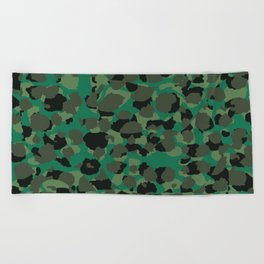 Emerald Leopard Spots Beach Towel