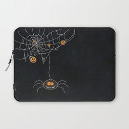 Halloween Spider on Web Laptop Sleeve