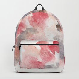 180713 Red Watercolour 4 Abstract | Watercolor Brush Strokes Backpack