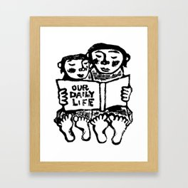 our daily life Framed Art Print