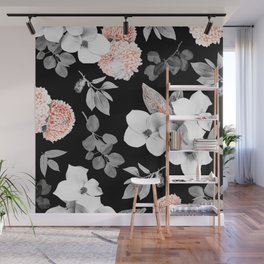 Night bloom - moonlit flame Wall Mural