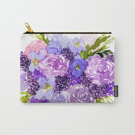 Sweet Purple Watercolor Bouquet Carry-All Pouch