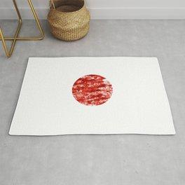 Flag of japan 2- Chalk version. Rug