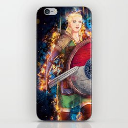The Shield Maiden Color from Nordic Warriors iPhone Skin