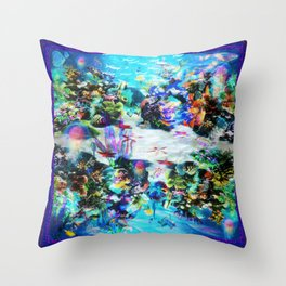 """Sealife, SeeLife!"" by surrealpete Throw Pillow"