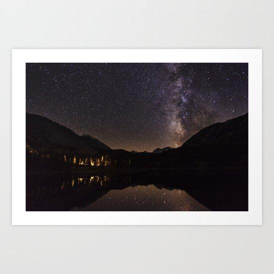 Night Glow Stars Art Print