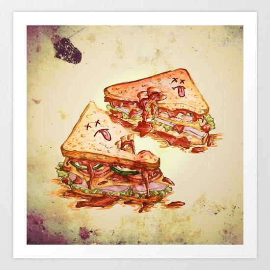 Sandwich Massacre Art Print