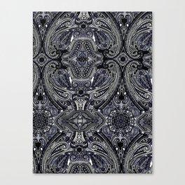 Blu Paisley 1 Canvas Print