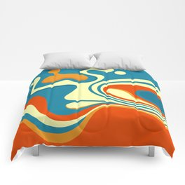 Oily Swirl Abstract Comforters