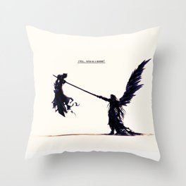 Sephiroth, the one winged Angel Throw Pillow