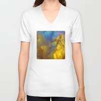 golden V-neck T-shirts featuring Golden by Benito Sarnelli