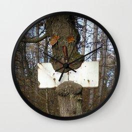 Trees #1 - Hungry tree Wall Clock